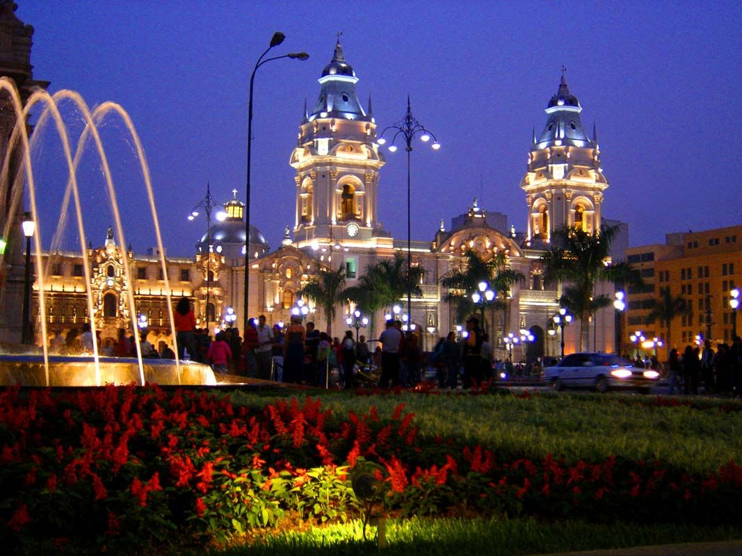 Photo Of The Week Lima S Plaza De Armas And Cathedral Lima Peru Peru Travel Lima City