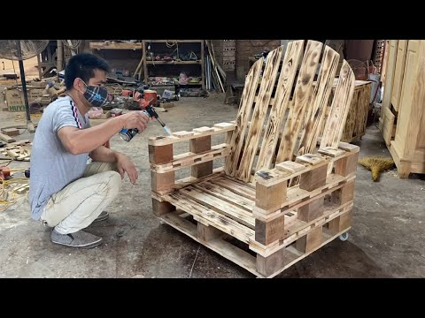 Amazing Design Ideas Woodworking Project Cheap From Pallet - Build A Outdoor Chair From Old Pallets