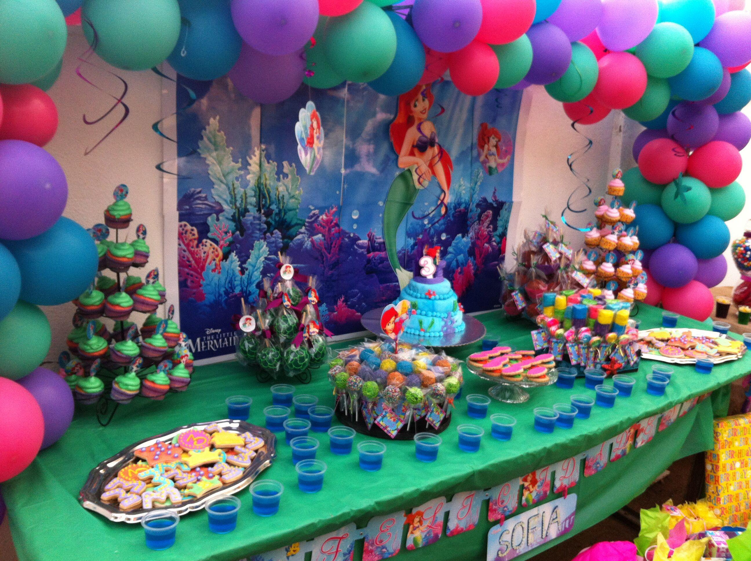 Party Sirenita Mesa De Postres