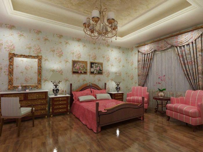 tapetenmuster wangestaltung wohnzimmer pracht Wandgestaltung