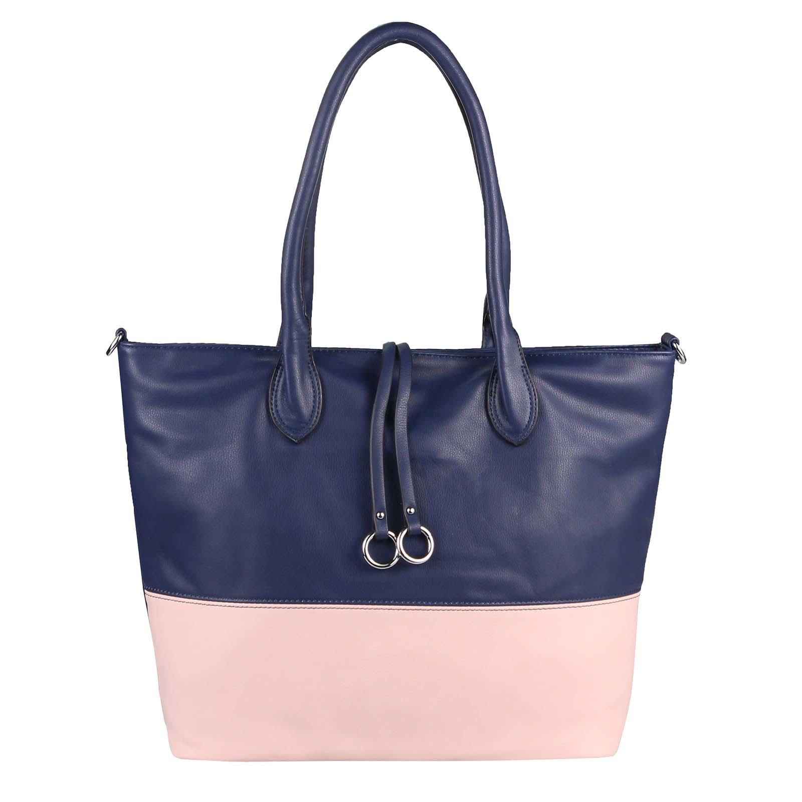 DAMEN HAND-TASCHE Schultertasche Metallic Shopper Umhängetasche Leder Optik Bag