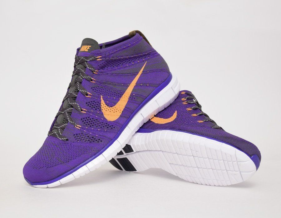 #Nike Free Flyknit Chukka Purple Orange #sneakers