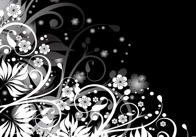 Genial Black And White Design Abstract Black White Floral Design 13 On Inspiration