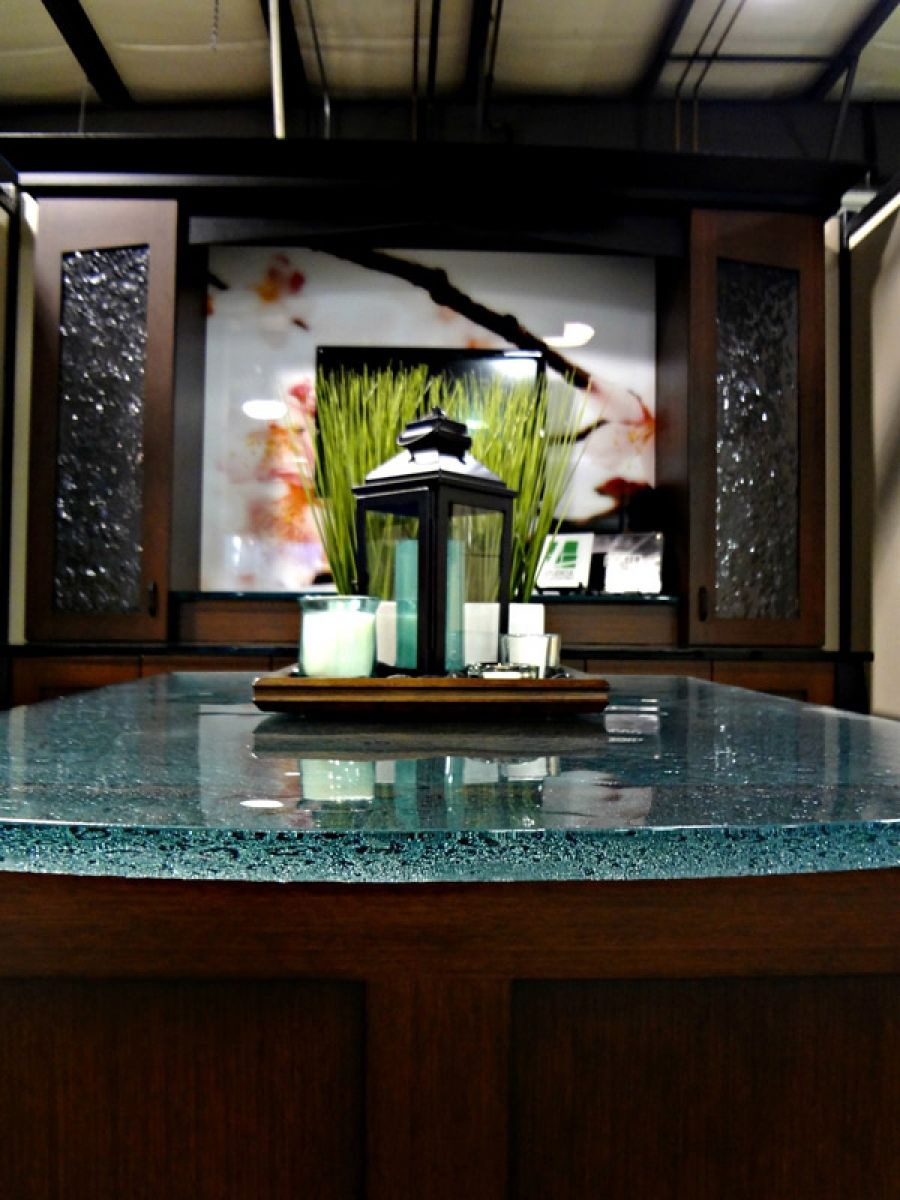 Kitchen bathroom solutions - Glass Countertops For Kitchens Bathroom Vanities And Bar Tops Innovate Building Solutions