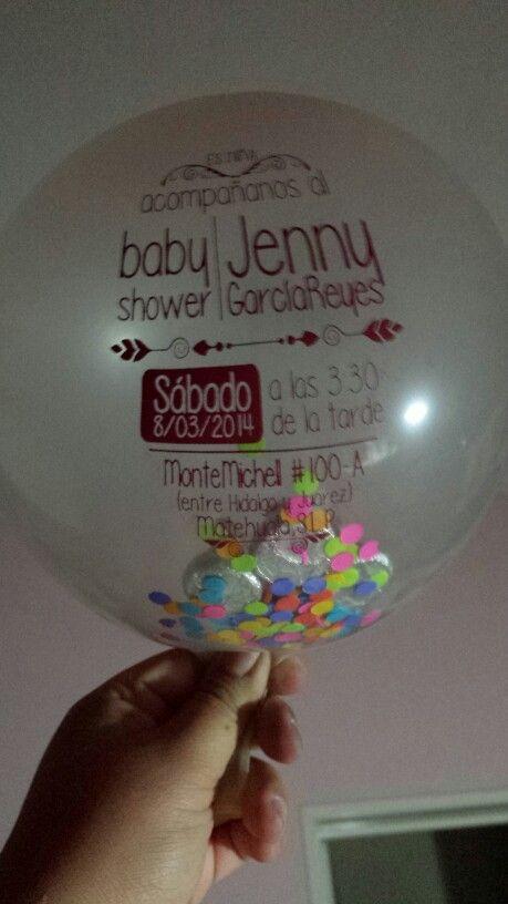 Invitaciones en globo
