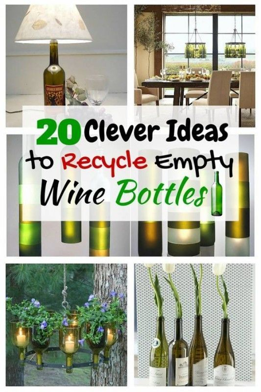 20 Clever Ideas To Recycle Empty Wine Bottles Diy Empty Wine