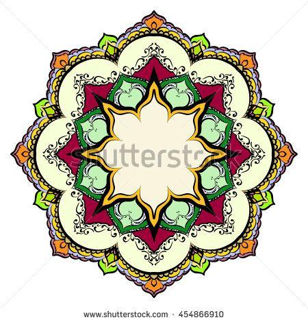 Mandala Round Ornament Pattern Geometric Circle Element Made In