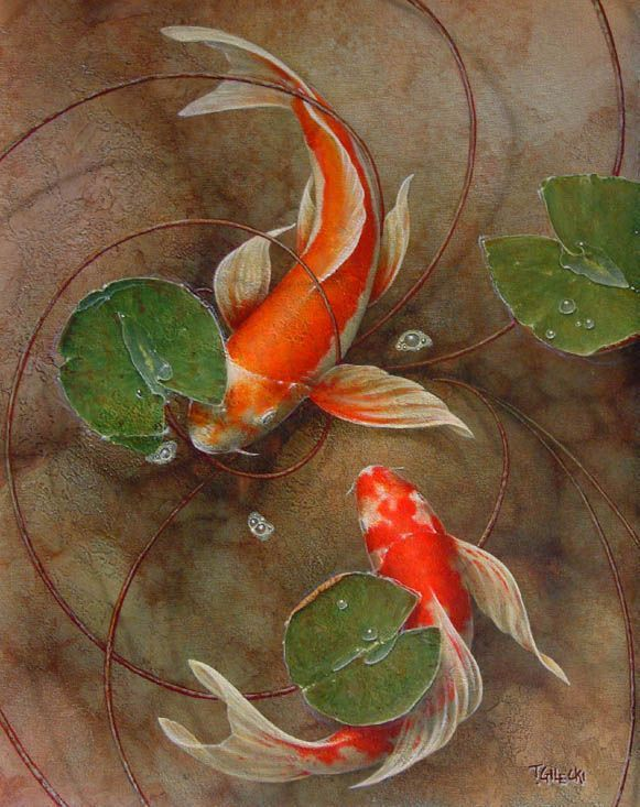 Great paintings of koi fish google search seahorses for Amazing koi fish