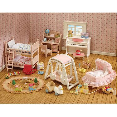 sylvanian families baby and child furniture collection - Sylvanian Families Living Room Set