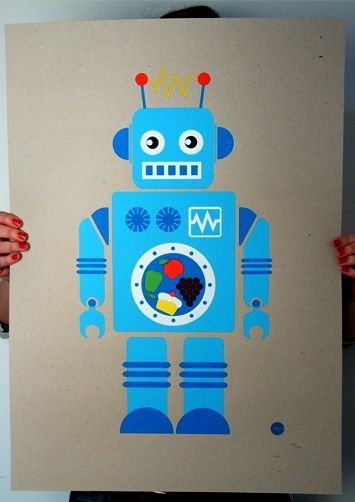 robot print designed by 1973