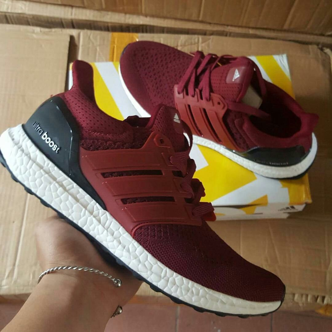 adidas originals ultra boost trainers in red aq5930 nz