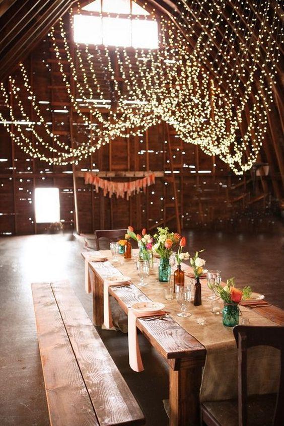 Rustic Bohemian Barn Wedding Table Ideas Http Www Deerpearlflowers Reception Decoration 2
