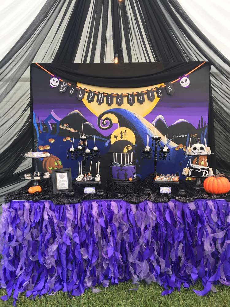 Nightmare Before Christmas Baby Shower Party Ideas In 2019