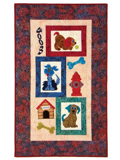 Mixed Mutts Classic Quilt Pattern or Pattern w/ Embroidery USB ... : classic quilt patterns - Adamdwight.com