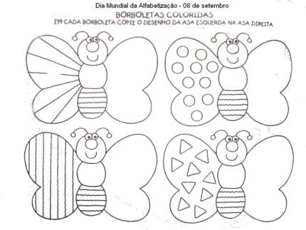 Dia Mundial da Alfabetização Atividades Desenhos Colorir Imprimir