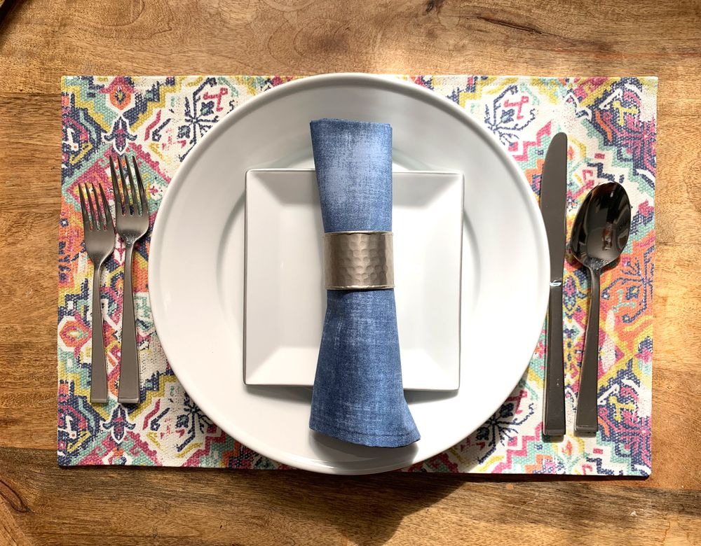 Sewing Tutorial Easy Diy Place Mats Napkins Makesomething Blog Diy Placemats Sewing Tutorials Placemats