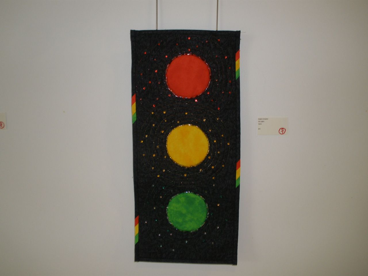 """City Lights"" by Angela Compton, Etobicoke Quilters' Guild"