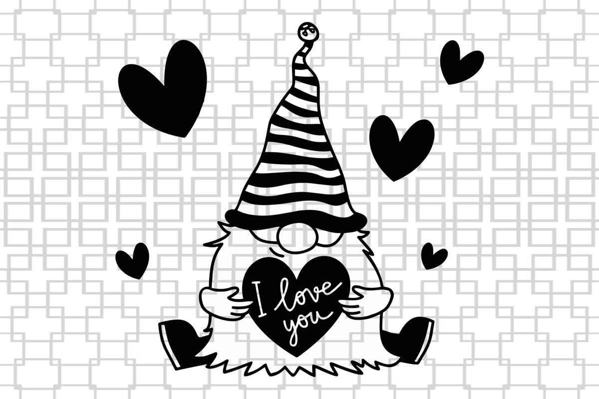 Download Pin by Khackett on Gnomes in 2020   Valentines svg ...
