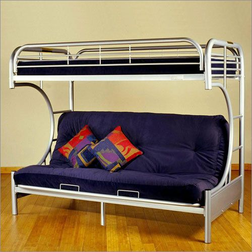 Eclipse Twin Over Full Futon Bunk Bed Silver Frame With Lounger