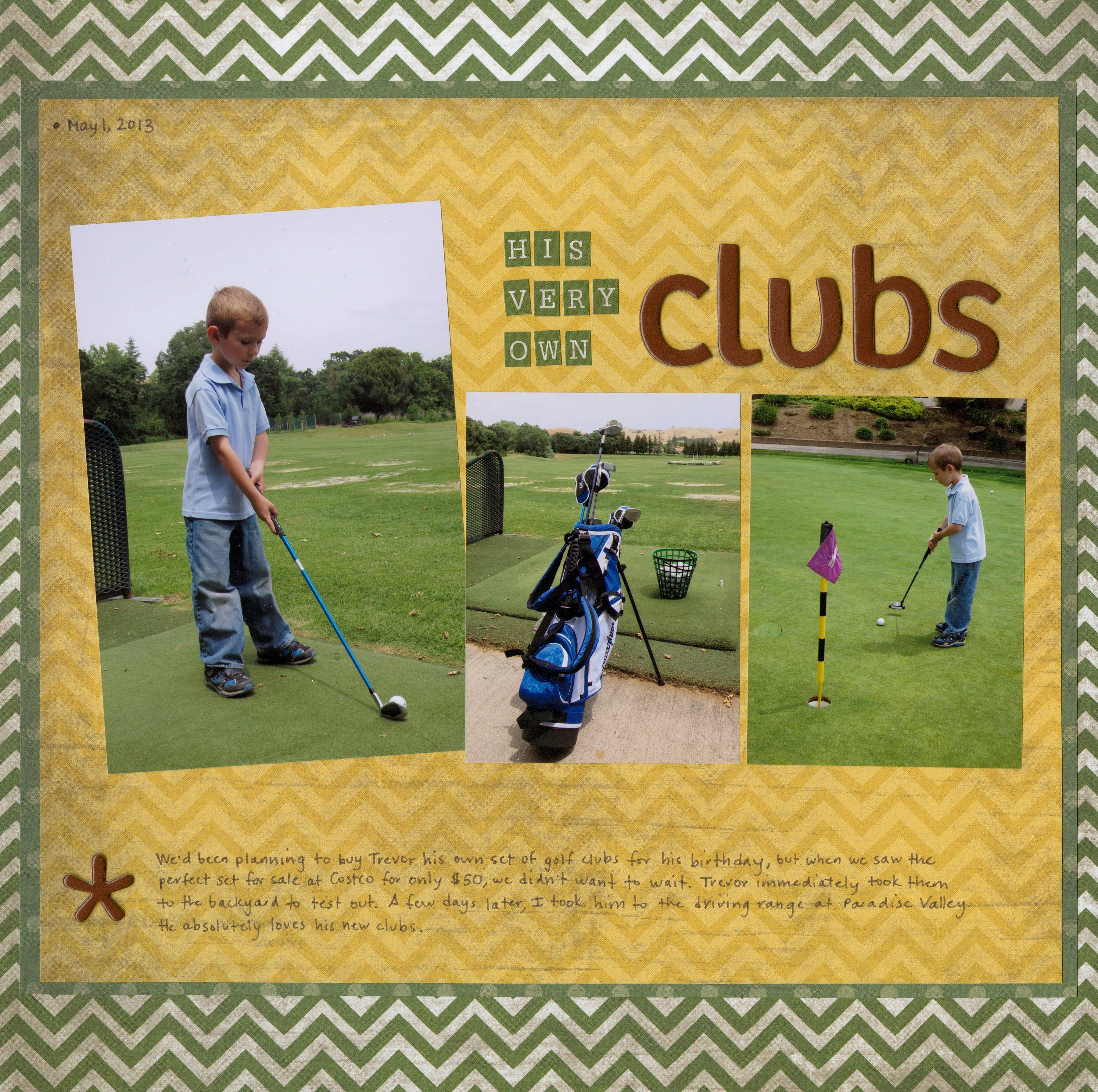 His Very Own Clubs - Scrapbook.com