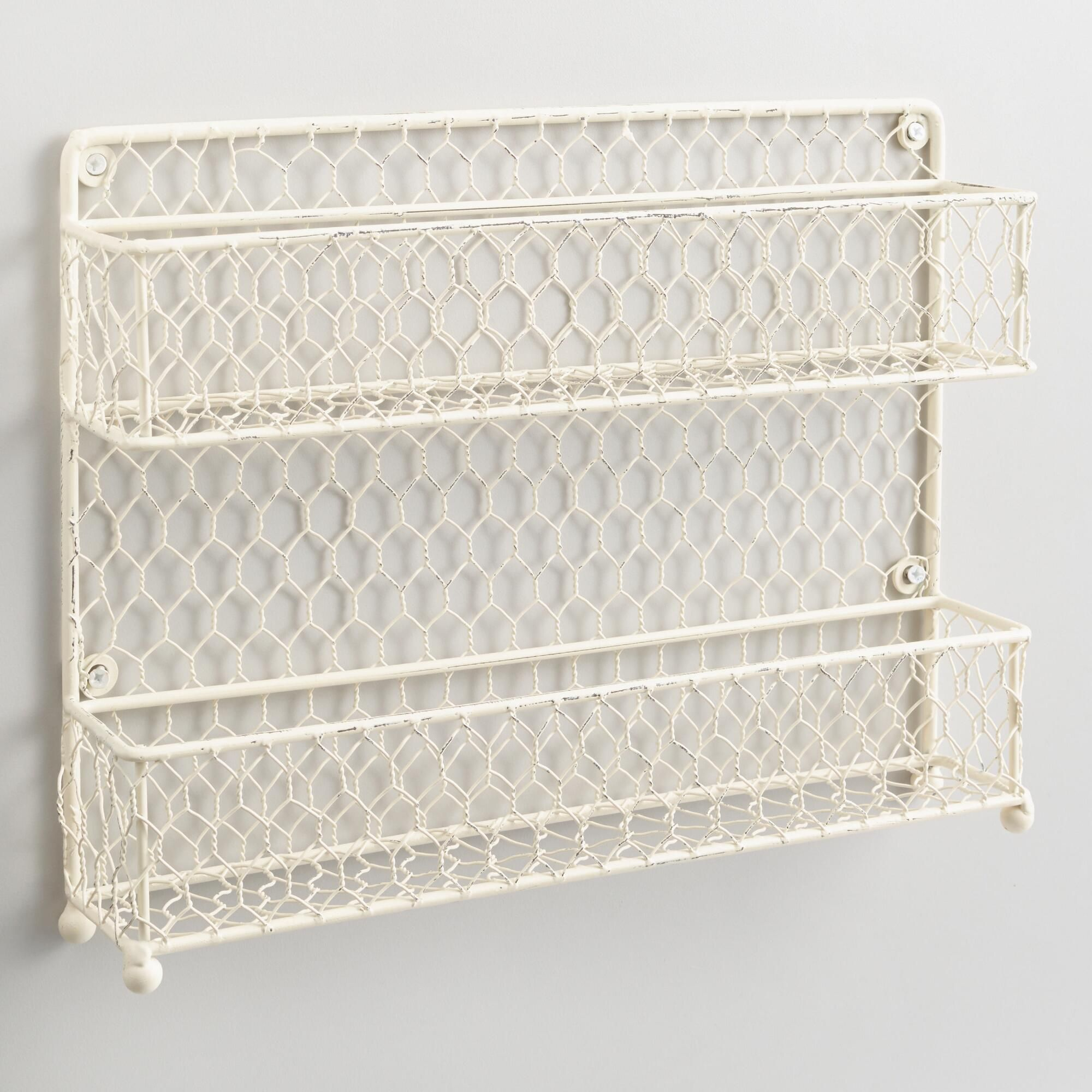 Made of vintage-style chicken wire with an antique white finish, our ...