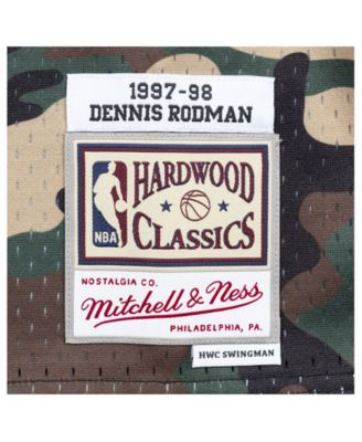 91cdddd26 Mitchell & Ness Men's Dennis Rodman Chicago Bulls Woodland Camo Swingman  Jersey ...