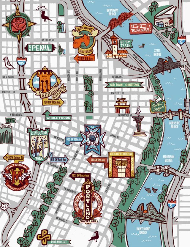 Pin by Kayla Watson on Portland Unit | Oregon travel, Portland ... Map Of Downtown Portland Hotels on