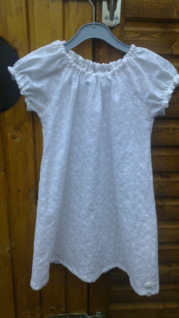 3261ba31 Hvit kjole 5 til 7 år. | Strikking Knitting Hekling Crochet | Hvit ...
