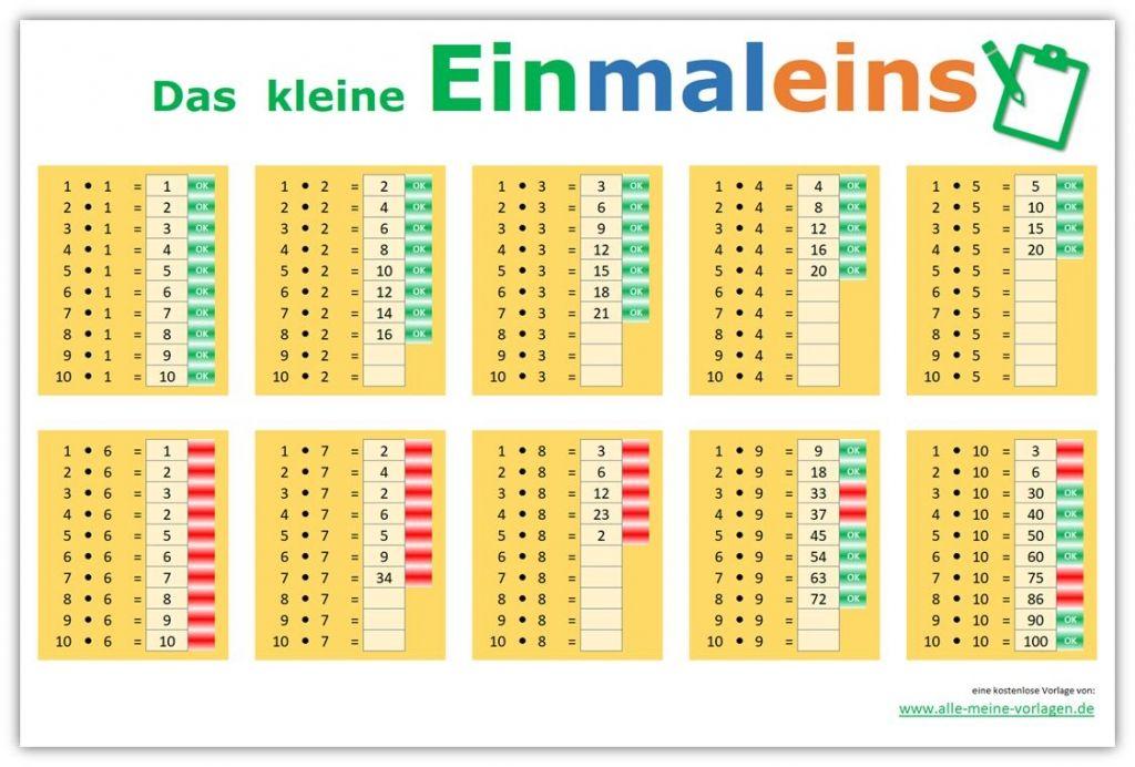 Das kleine Einmaleins - Lernen leicht gemacht   Einmaleins ...