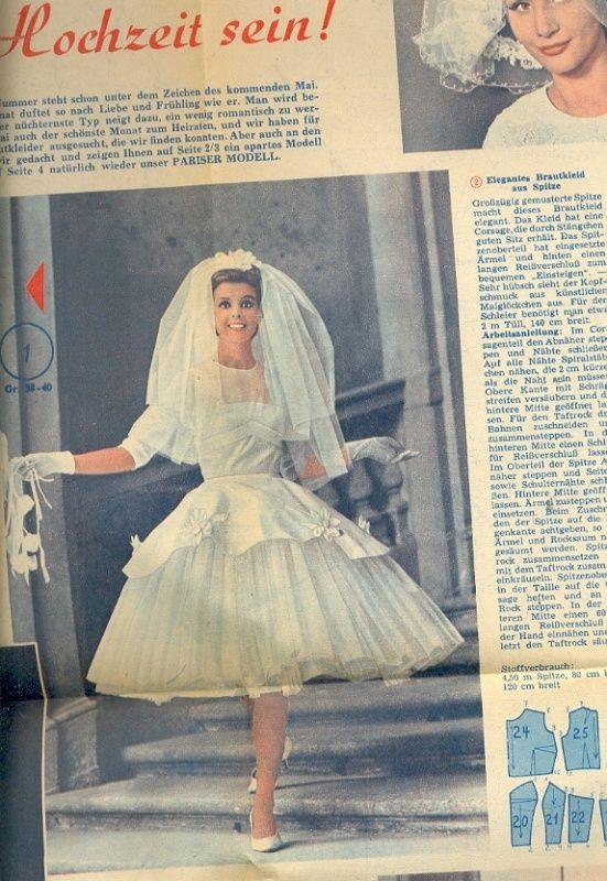 Freundin Der Frau 1963 04 1960s Weddingvintage