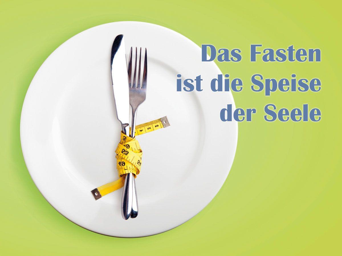 Wer fastet, verzichtet ganz bewusst - etwa auf bestimmte Speisen und ...