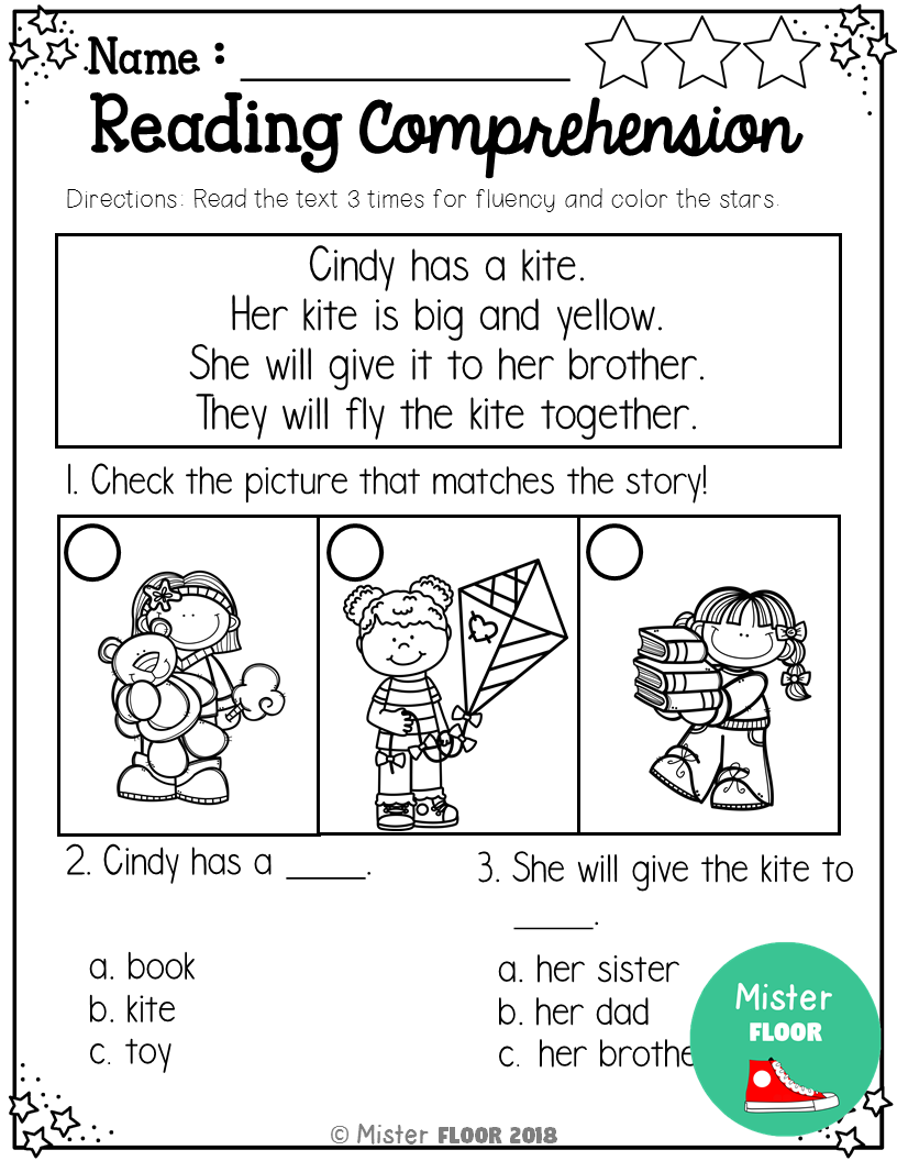 Kindergarten Reading Comprehension (Spring) Reading
