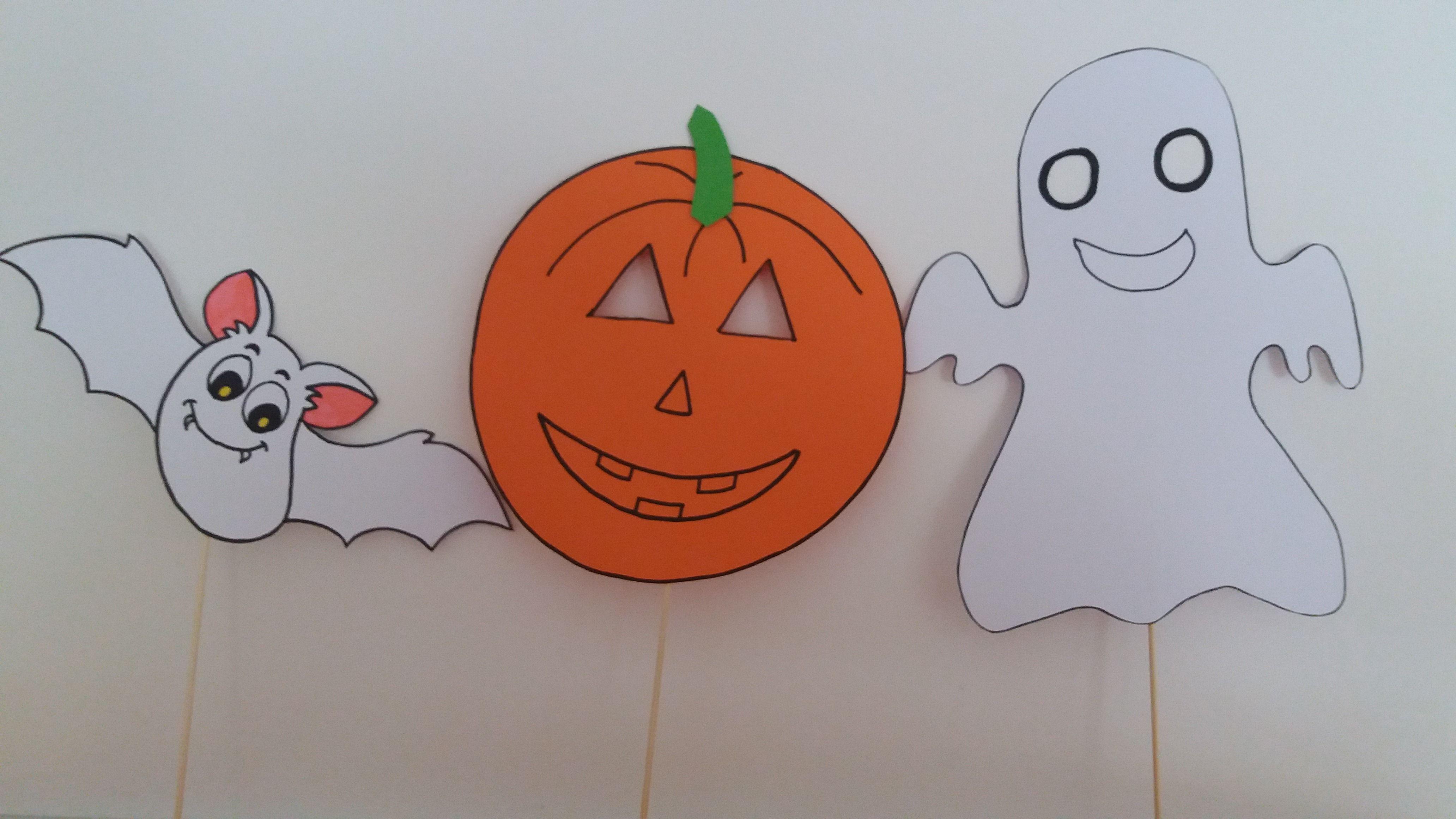 Halloween Vleermuis Pompoen Spook Knutselwerkje Kleuters Masker Pentekeningen Kleurplaten Halloween