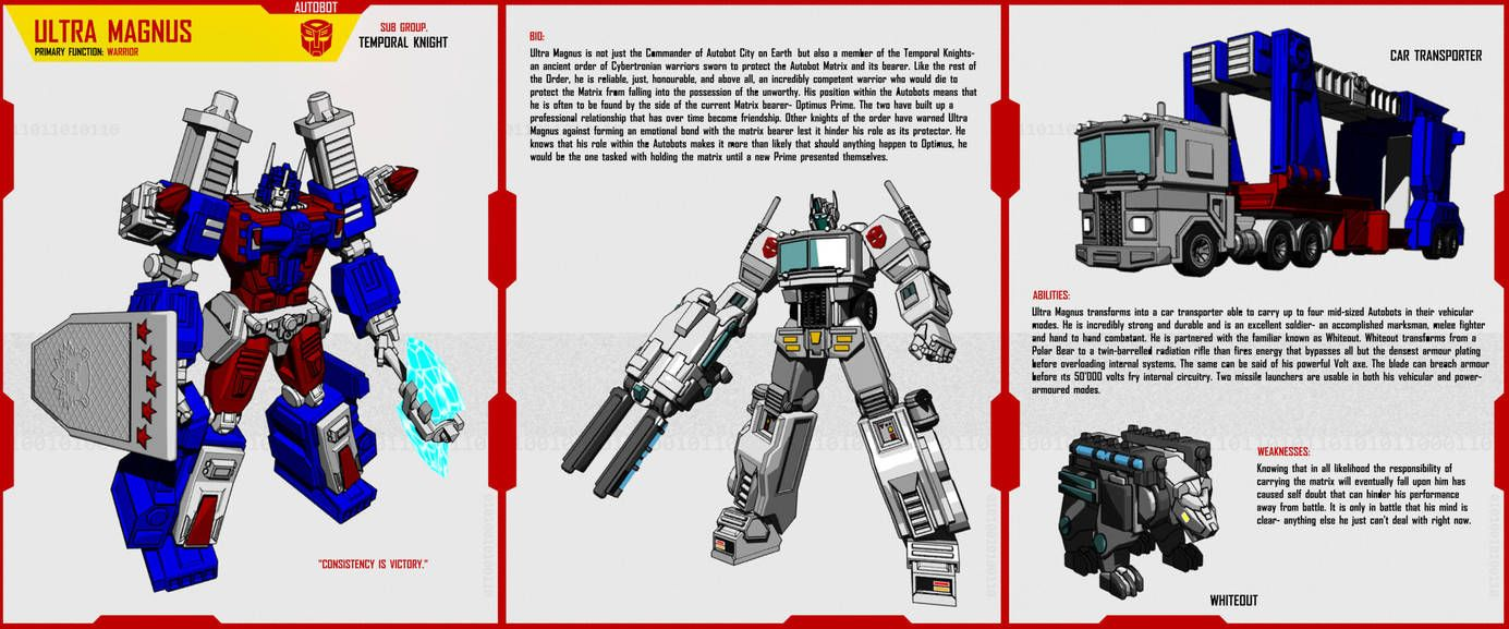 Temporal Knight Ultra Magnus By Https Www Deviantart Com F For Feasant Design On Deviantart Ultra Magnus Transformers Artwork Transformers Design