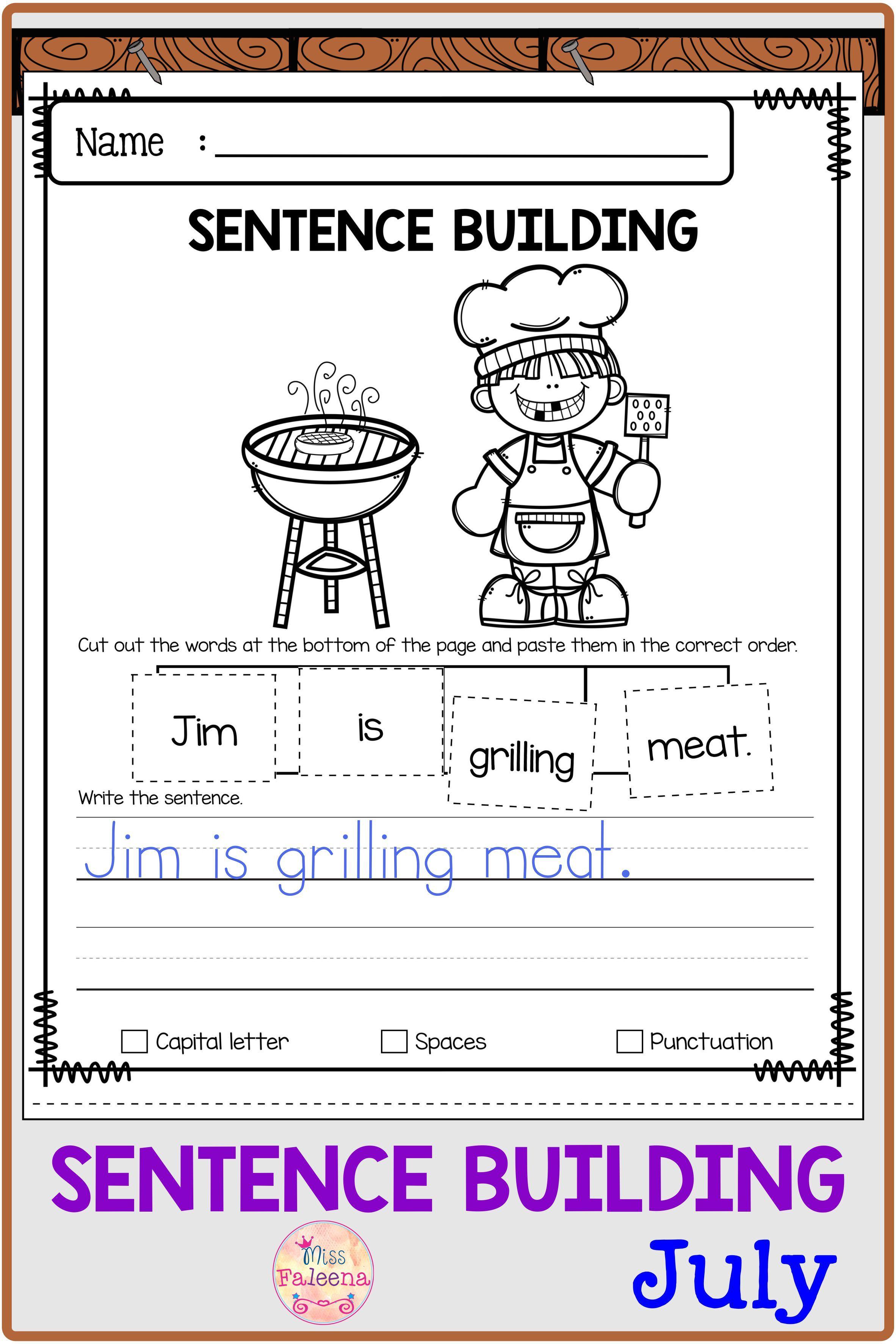 July Sentence Building In