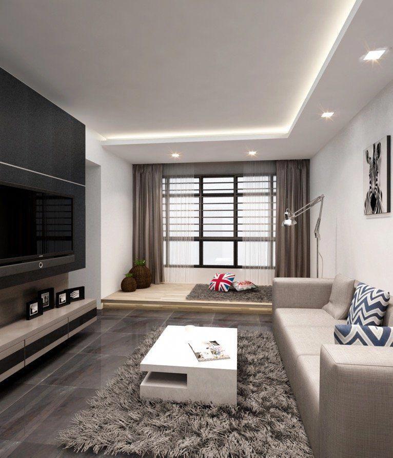 Hdb Bto 4 Room Special Platform At Sengkang Interior Design Singapore Contempora Ceiling Design Living Room Ceiling Design Bedroom False Ceiling Living Room