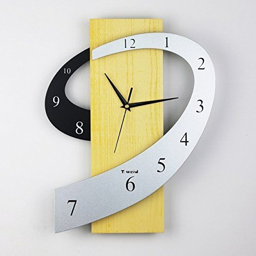Affton 3D Wall Clock Creative Wall Watch Modern Design Musical ...