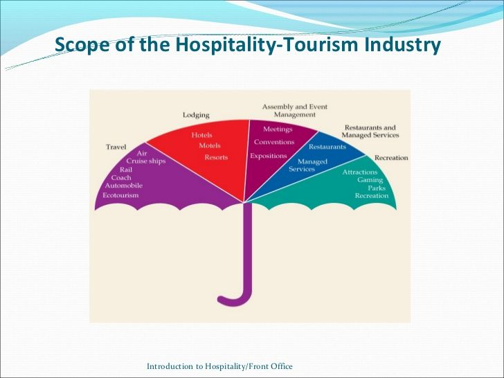 difference between hospitality and tourism industry