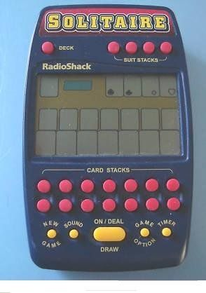 Radio Shack SOLITAIRE 2 IN 1 ELECTRONIC HANDHELD GAME by Radio Shack. $59.95