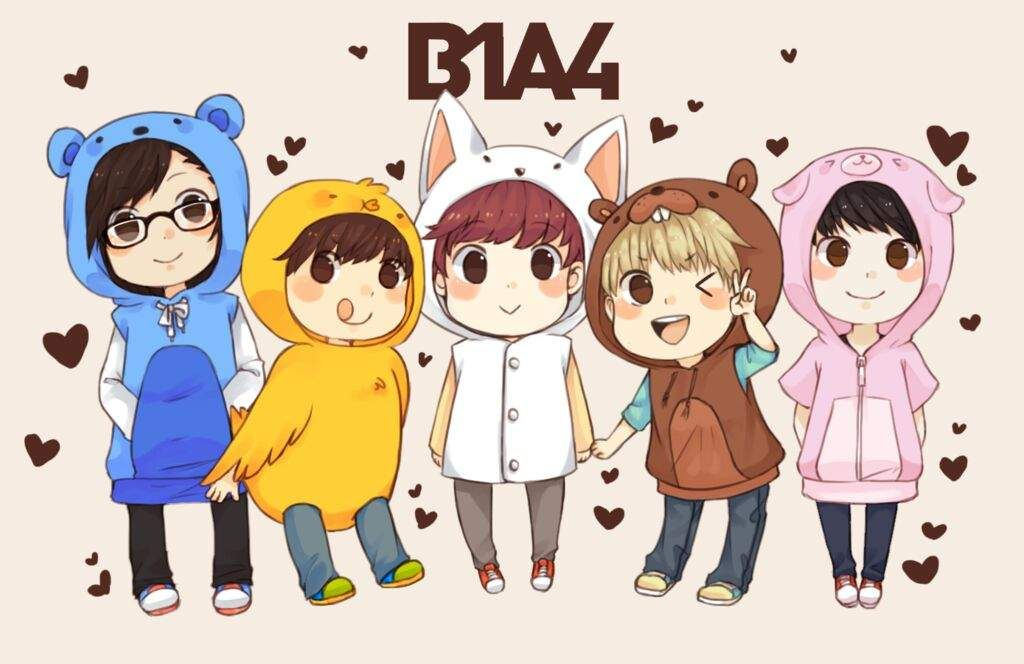 Cutest Chibi K Idol Boy Group Chibi Cute Chibi B1a4