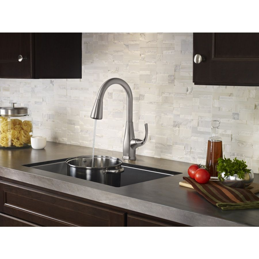 Shop Pfister Selia Stainless Steel 1 Handle Pull Down Kitchen Faucet At Lowes Com Kitchen Faucet Kitchen Renovation Hardware