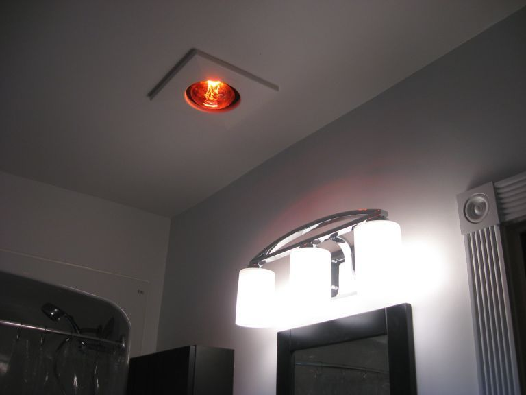 Bathroom Heat Lamp Mod