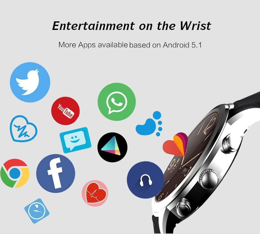 New Business Android 5.1 Smart Watch 3G Fitness Watch with