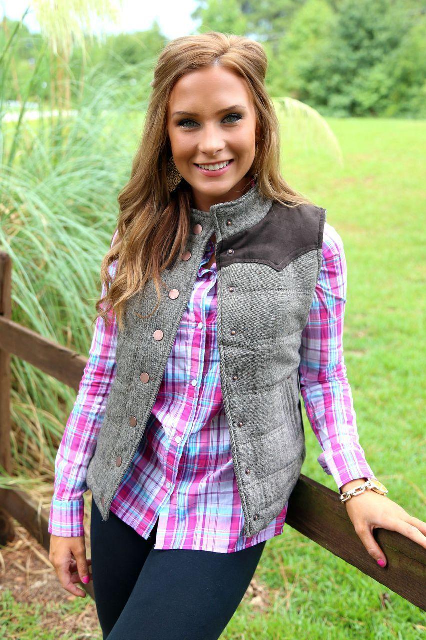 Fall Festival Vest: Brown - Off the Racks Boutique