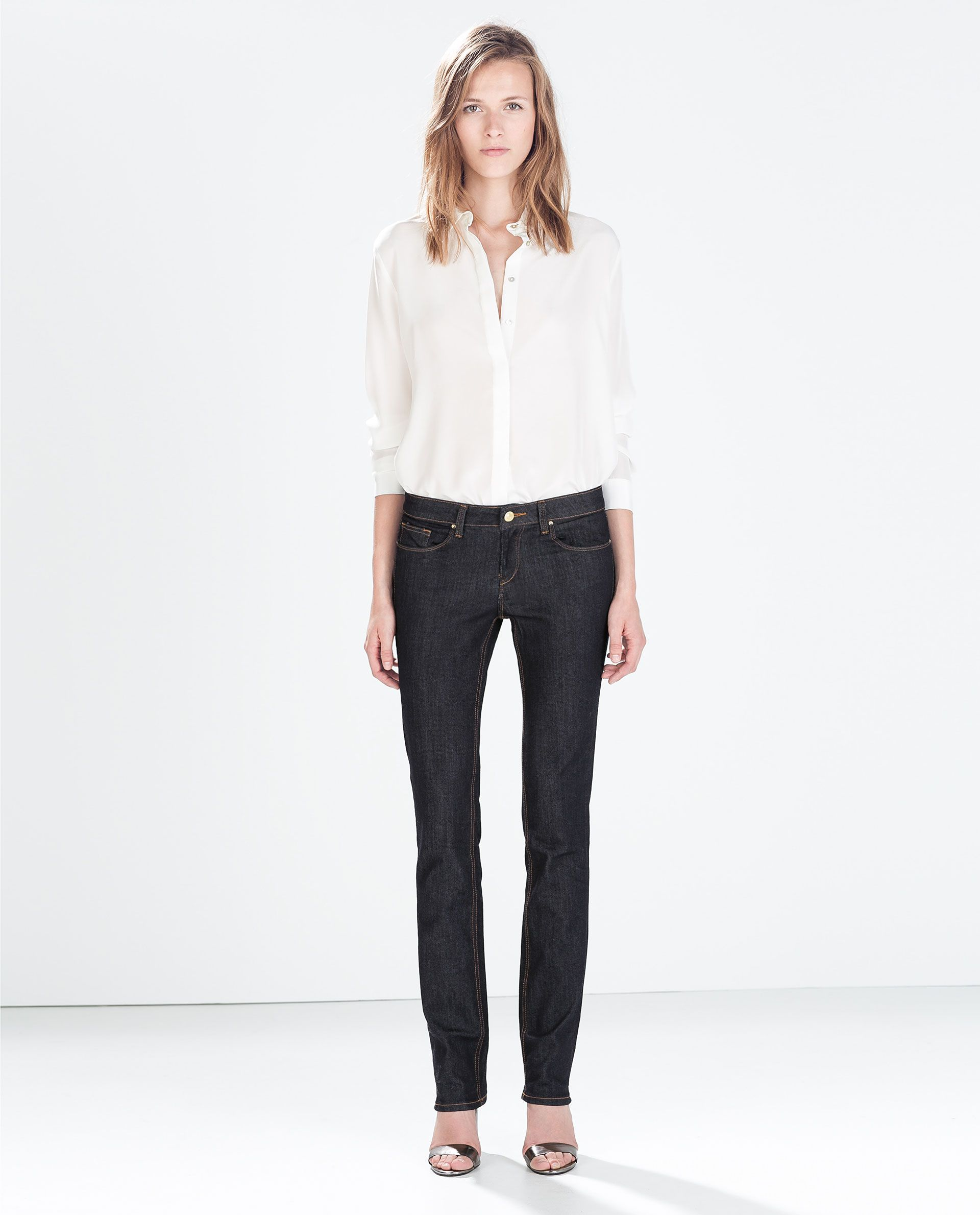 STRAIGHT JEANS WITH WASHED FINISH from Zara