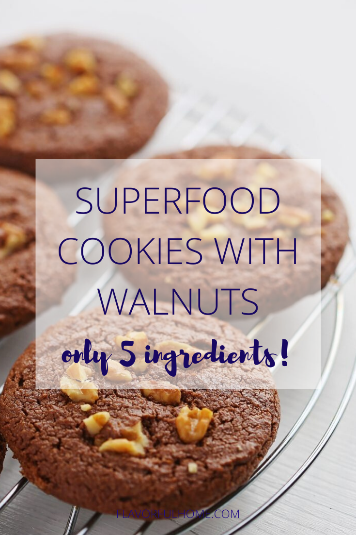 5Ingredient Superfood Cookies with Walnuts Recipe in