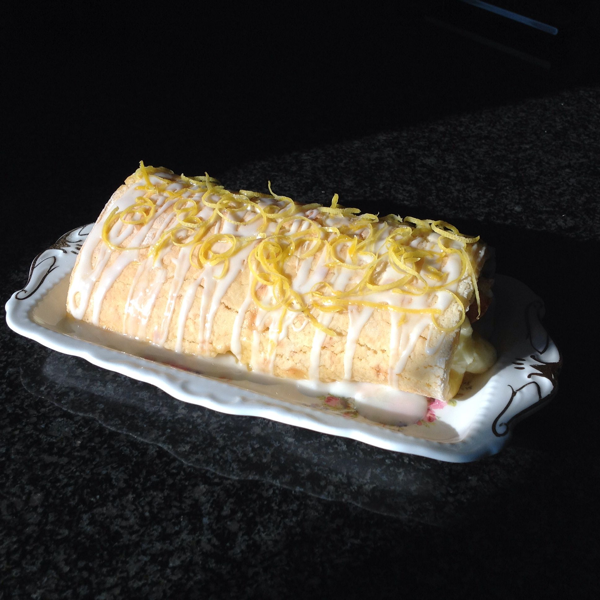 Lemon Curd Roulade Filled With Home Made Lemon Curd Recipe From