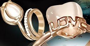 4fe39bd74 prstene pozlatene z ruzovym zlatom | Ocelove sperky | Home Decor ...