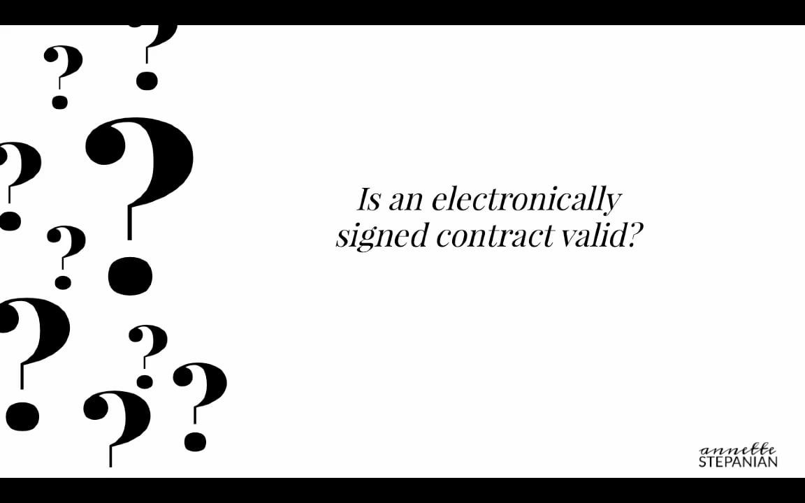 Office Talk  Is An Electronically Signed Contract Valid
