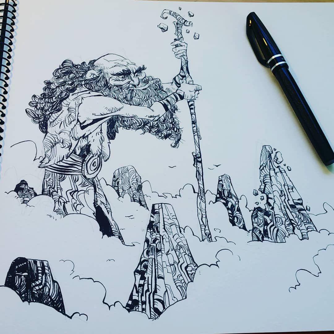 Brushpen Pentelbrushpen Illustration Draw Inking
